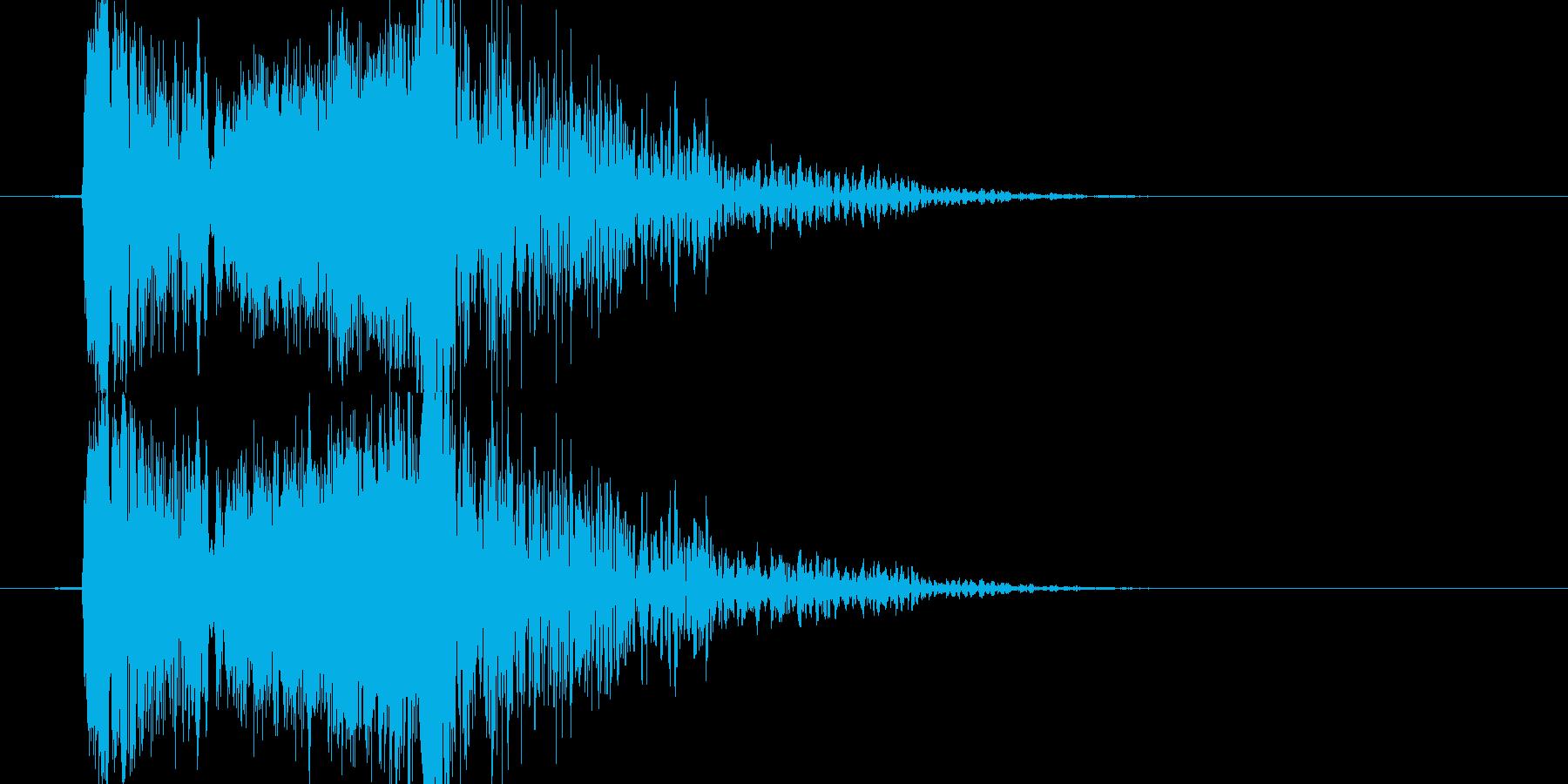 異空間に吸い込まれるような音の再生済みの波形