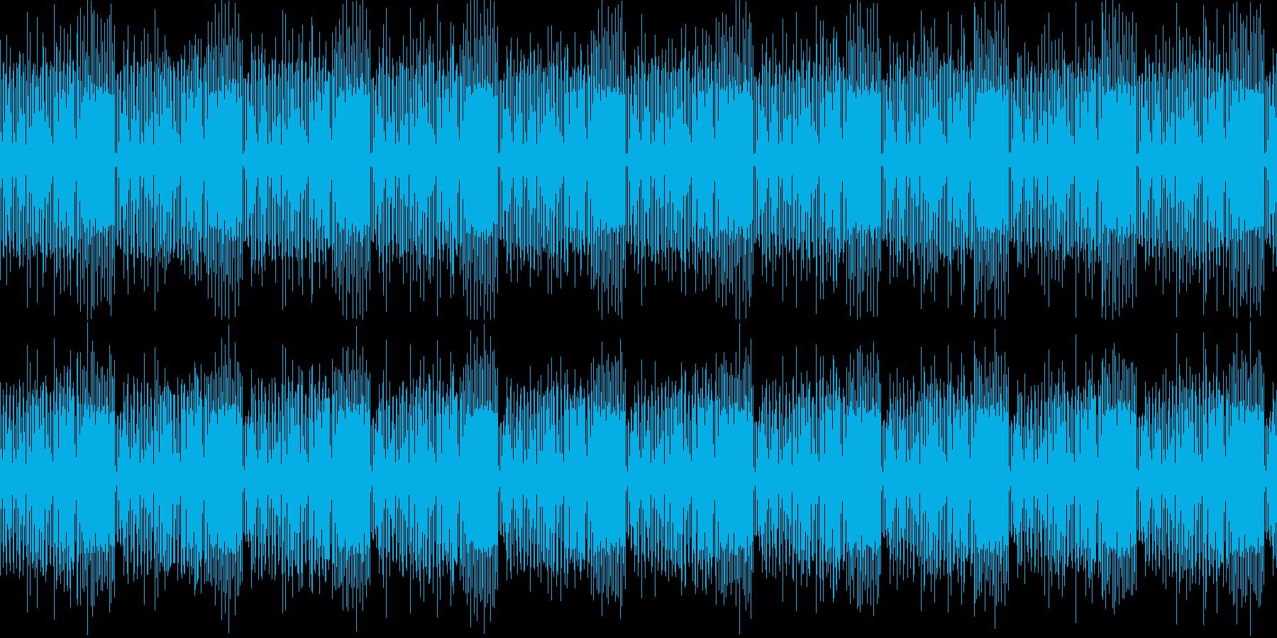 稚拙な潜入・スパイ・考え中みたいな曲の再生済みの波形