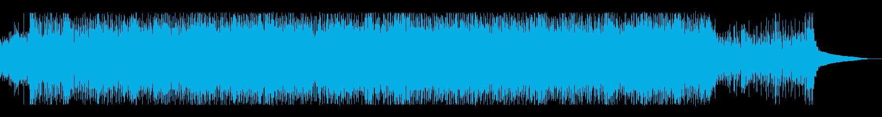 キラキラしたギターアンビエントの再生済みの波形