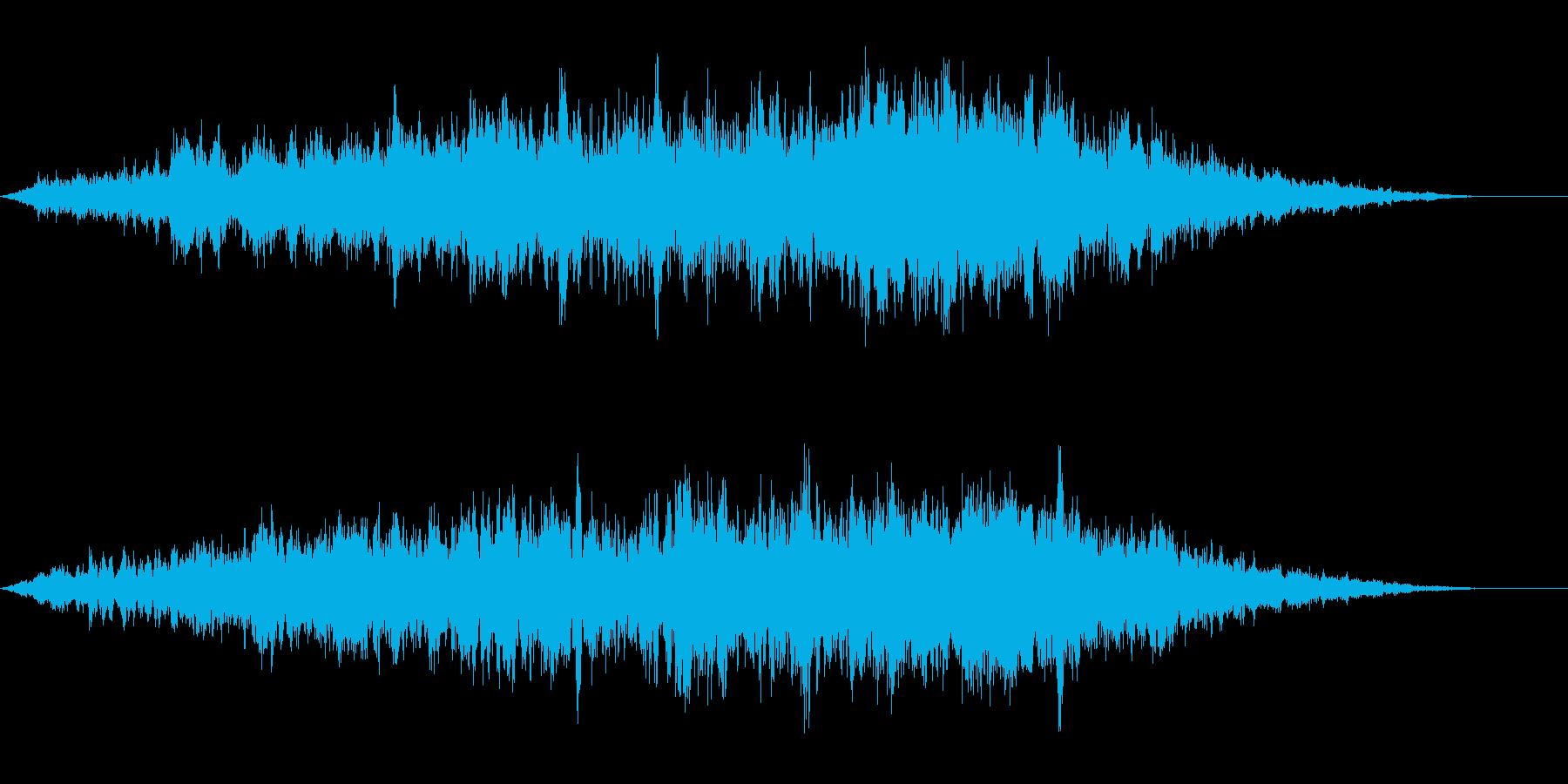 ホラーな演出に 32の再生済みの波形