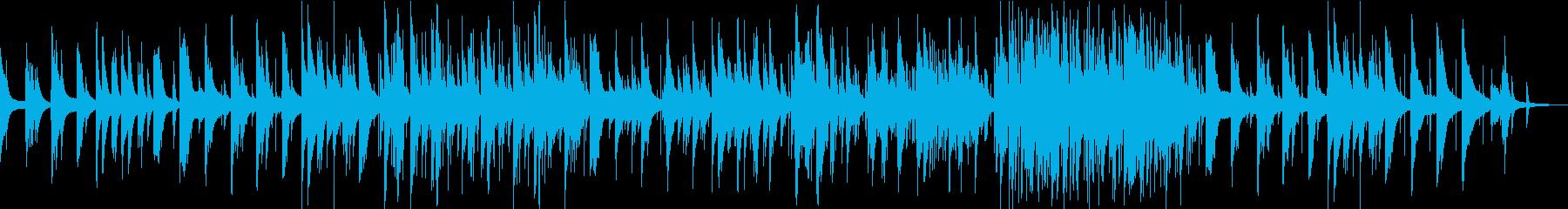 ピアノトリオの美しいジャズバラードの再生済みの波形
