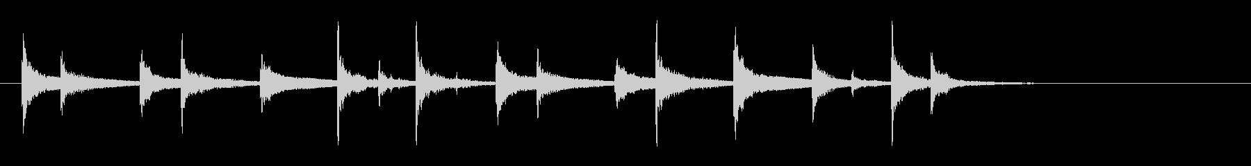 羽根アフリカ太鼓ジャンベフレーズ音+FXの未再生の波形