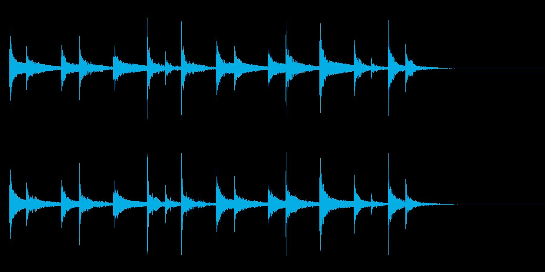 羽根アフリカ太鼓ジャンベフレーズ音+FXの再生済みの波形