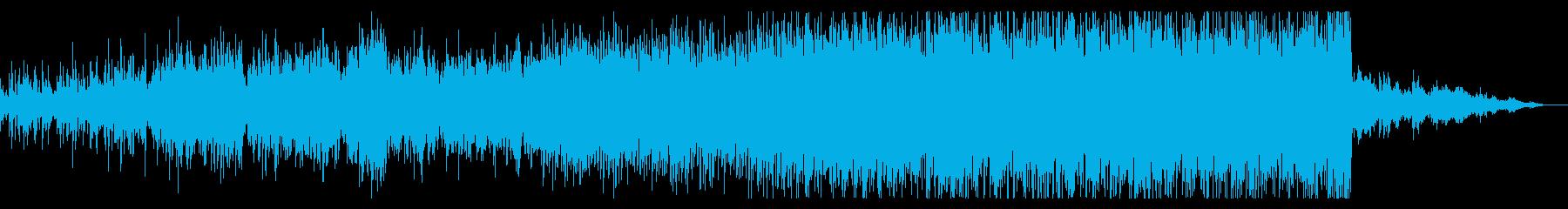 サスペンシブなシンセBGMの再生済みの波形