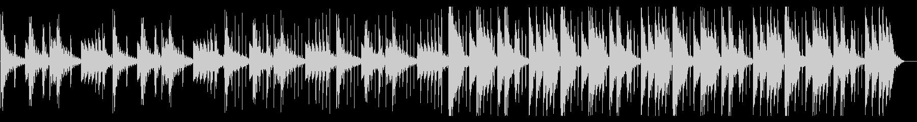 のんびりしたHiphop_No611_3の未再生の波形