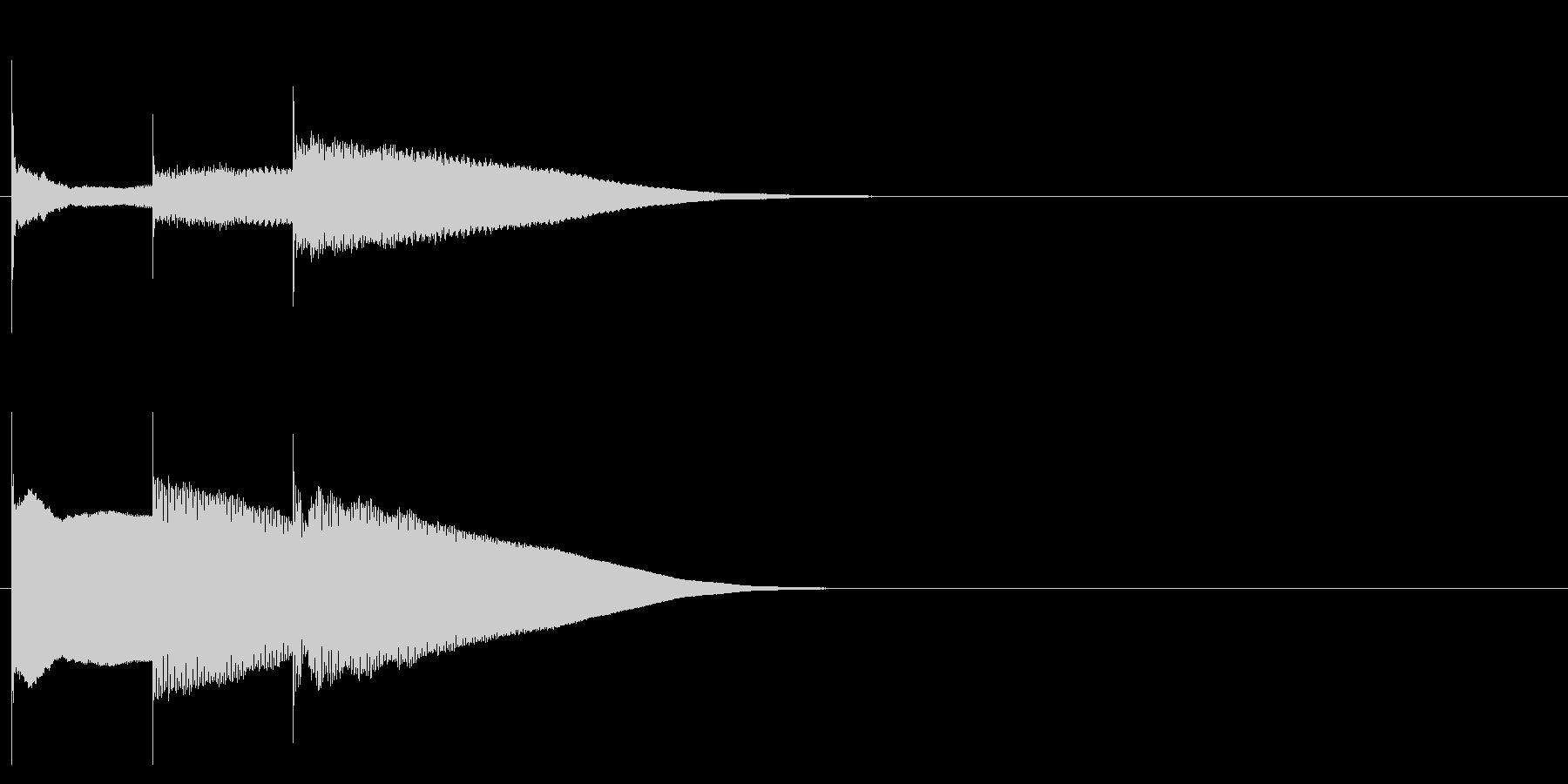 グロッケン系 決定音11(長三和音)の未再生の波形
