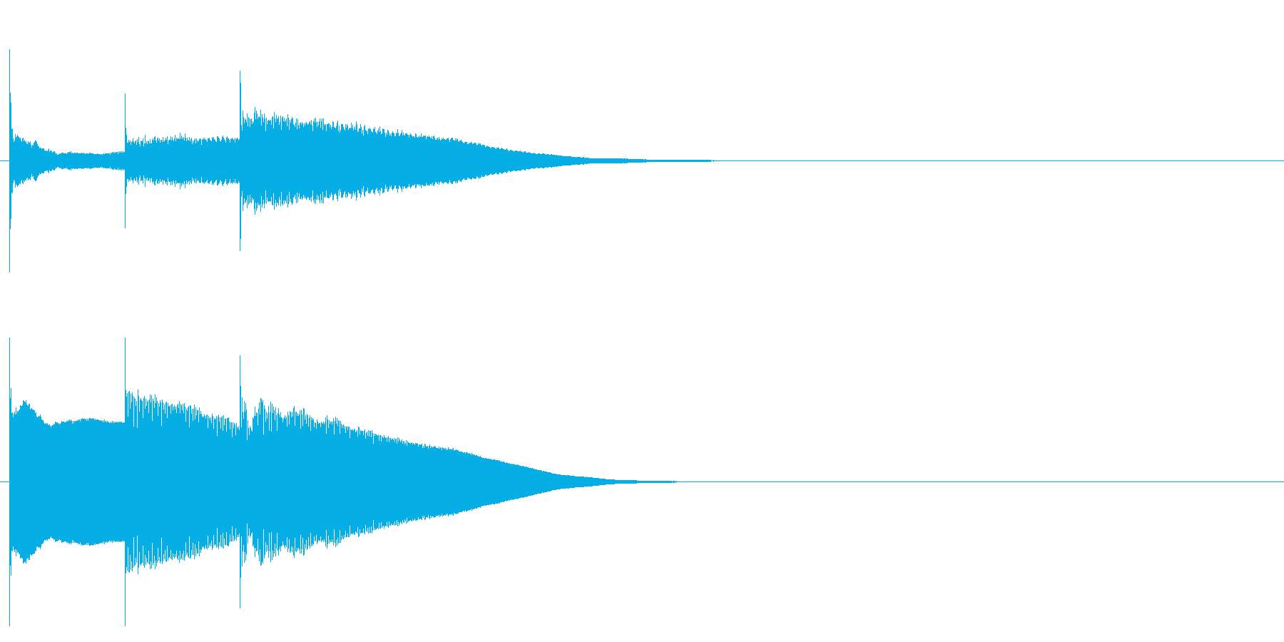 グロッケン系 決定音11(長三和音)の再生済みの波形
