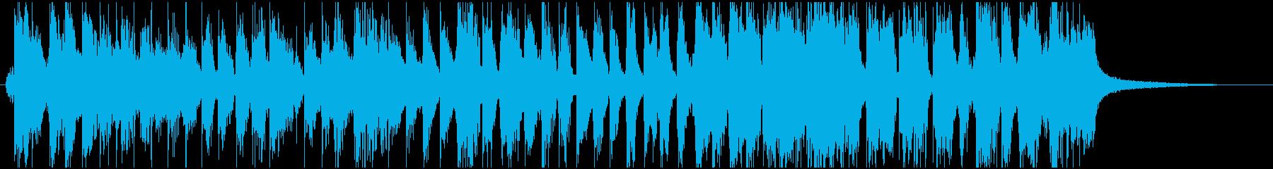 明るくファンキーなオルガン ジングルの再生済みの波形