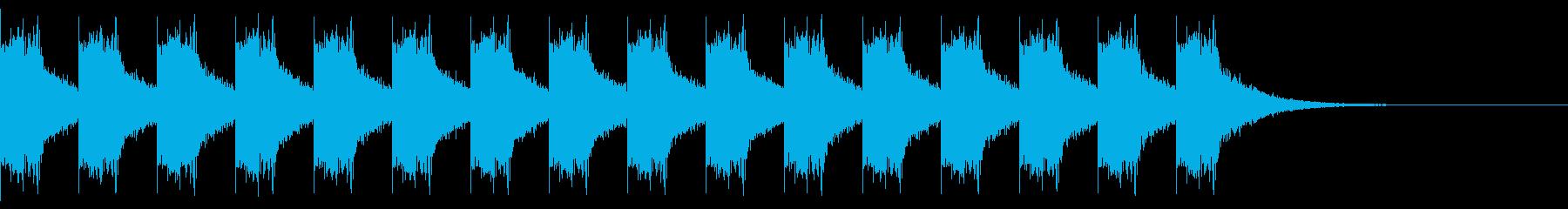 アラートサイレン(リバーブ有り)の再生済みの波形