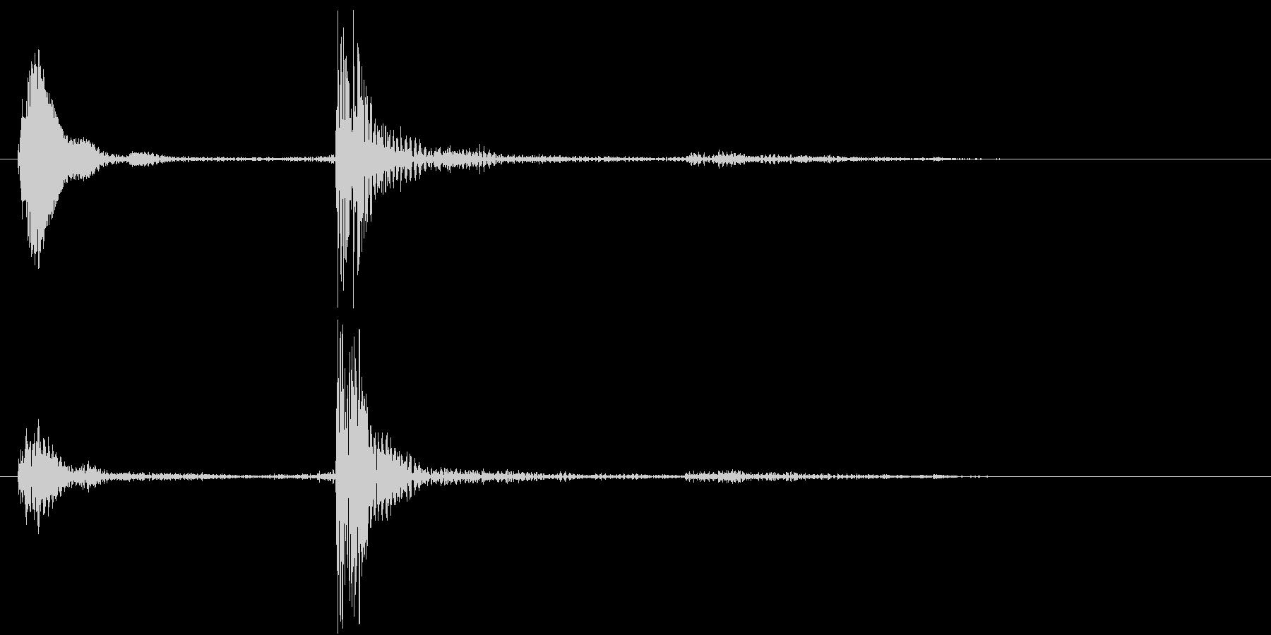【生録音】お箸の音 38 手の中で擦れるの未再生の波形