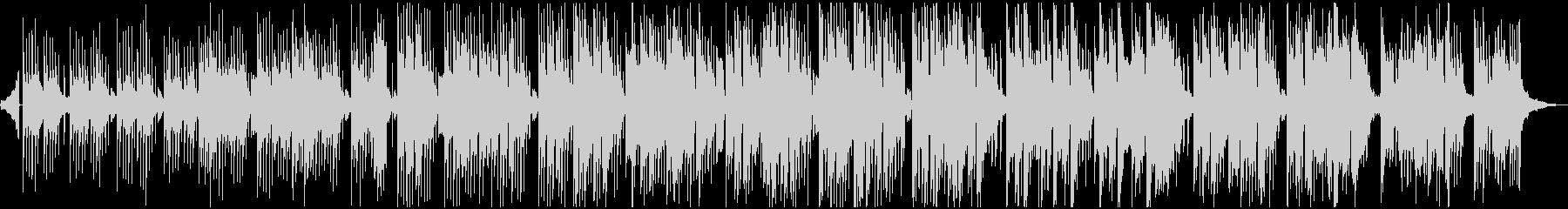 激しくない、優しい音のエレクトロニカ曲の未再生の波形