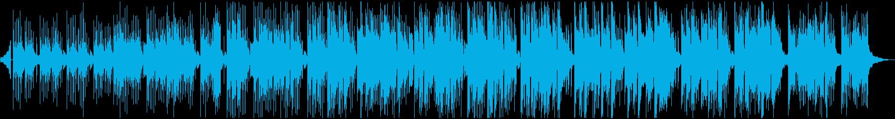 激しくない、優しい音のエレクトロニカ曲の再生済みの波形