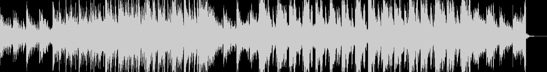 密林で雪が降っているイメージの曲の未再生の波形