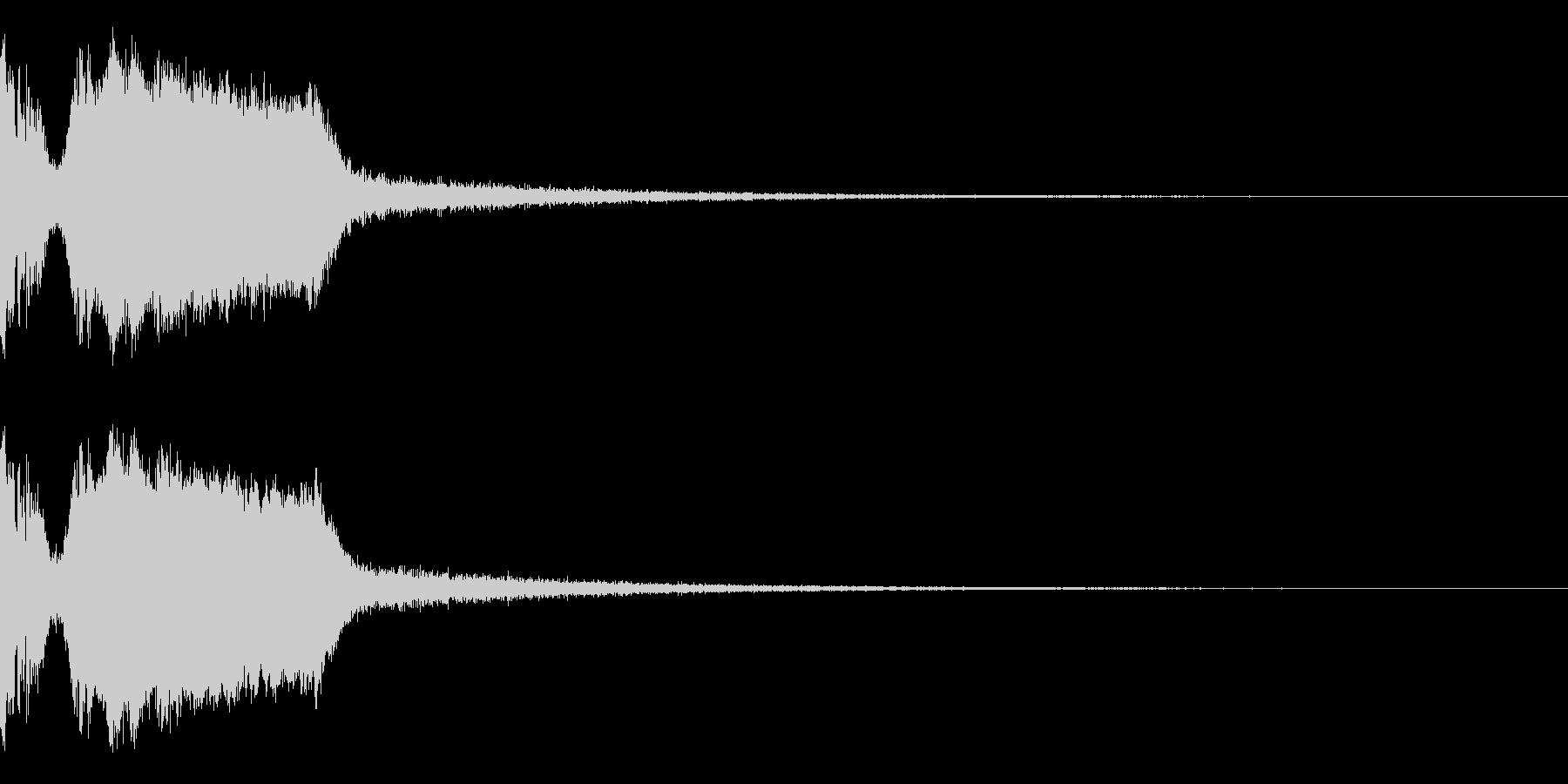 DJFX ヒットチャート発表前SE 10の未再生の波形