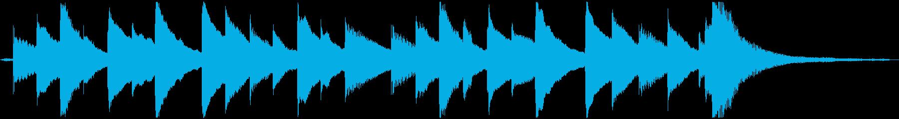 【オルゴール版】物悲しいチップチューンの再生済みの波形
