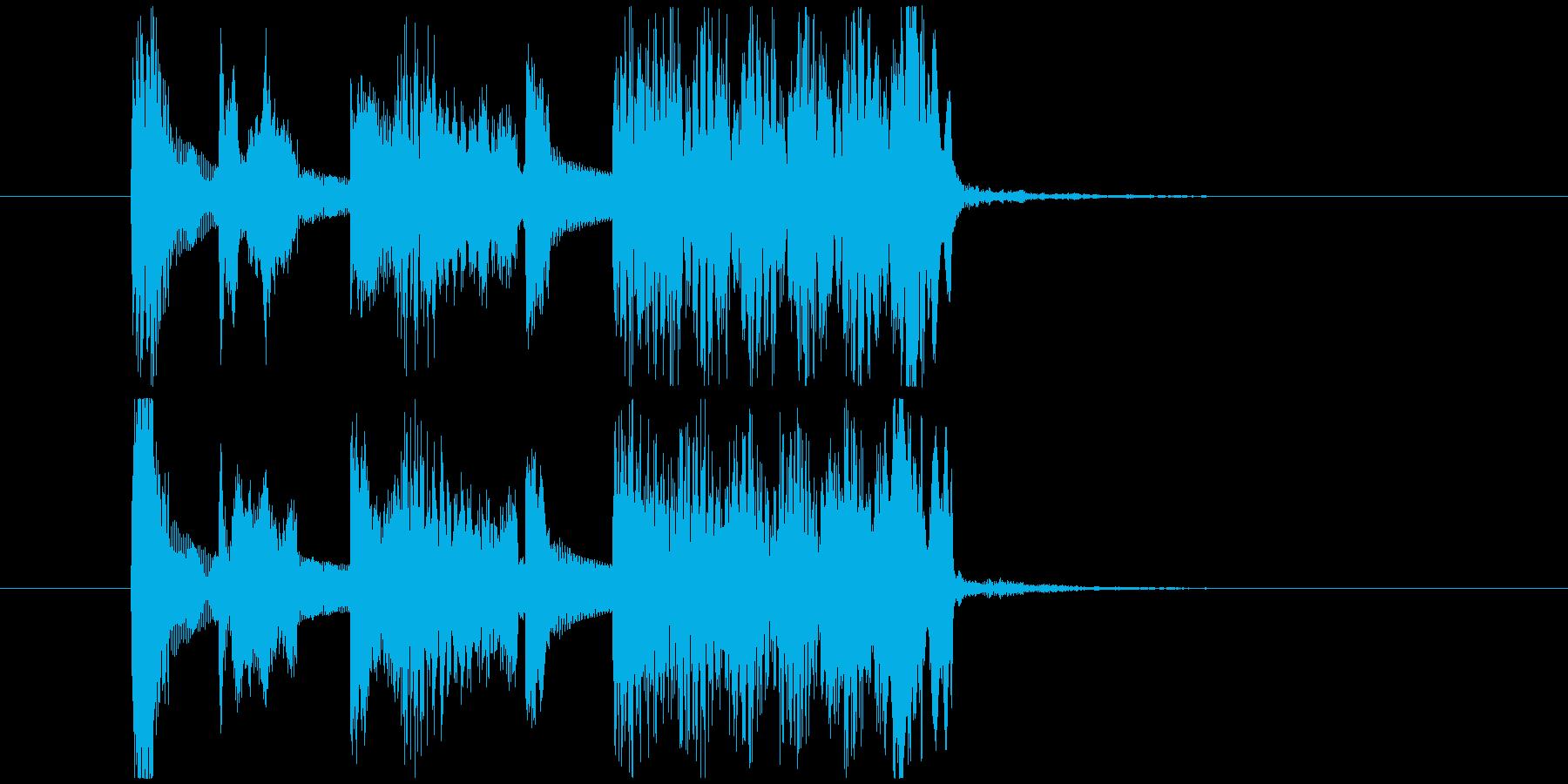 オルガンと木琴のポップなジングルの再生済みの波形