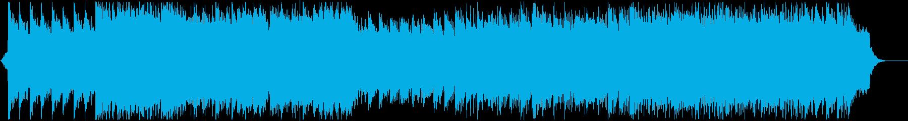 ミドルテンポの優しいポップな楽曲の再生済みの波形