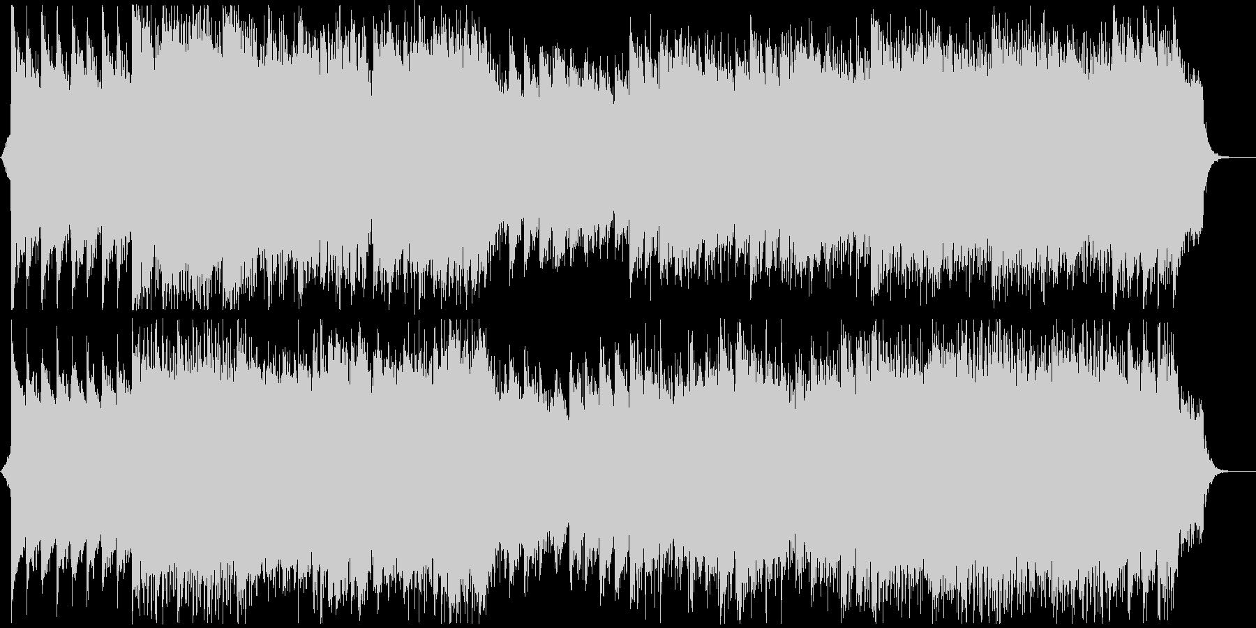 ミドルテンポの優しいポップな楽曲の未再生の波形