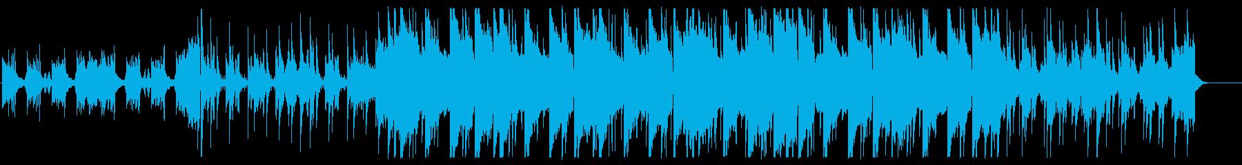 アンビエントな静けさのかわいいBGMの再生済みの波形