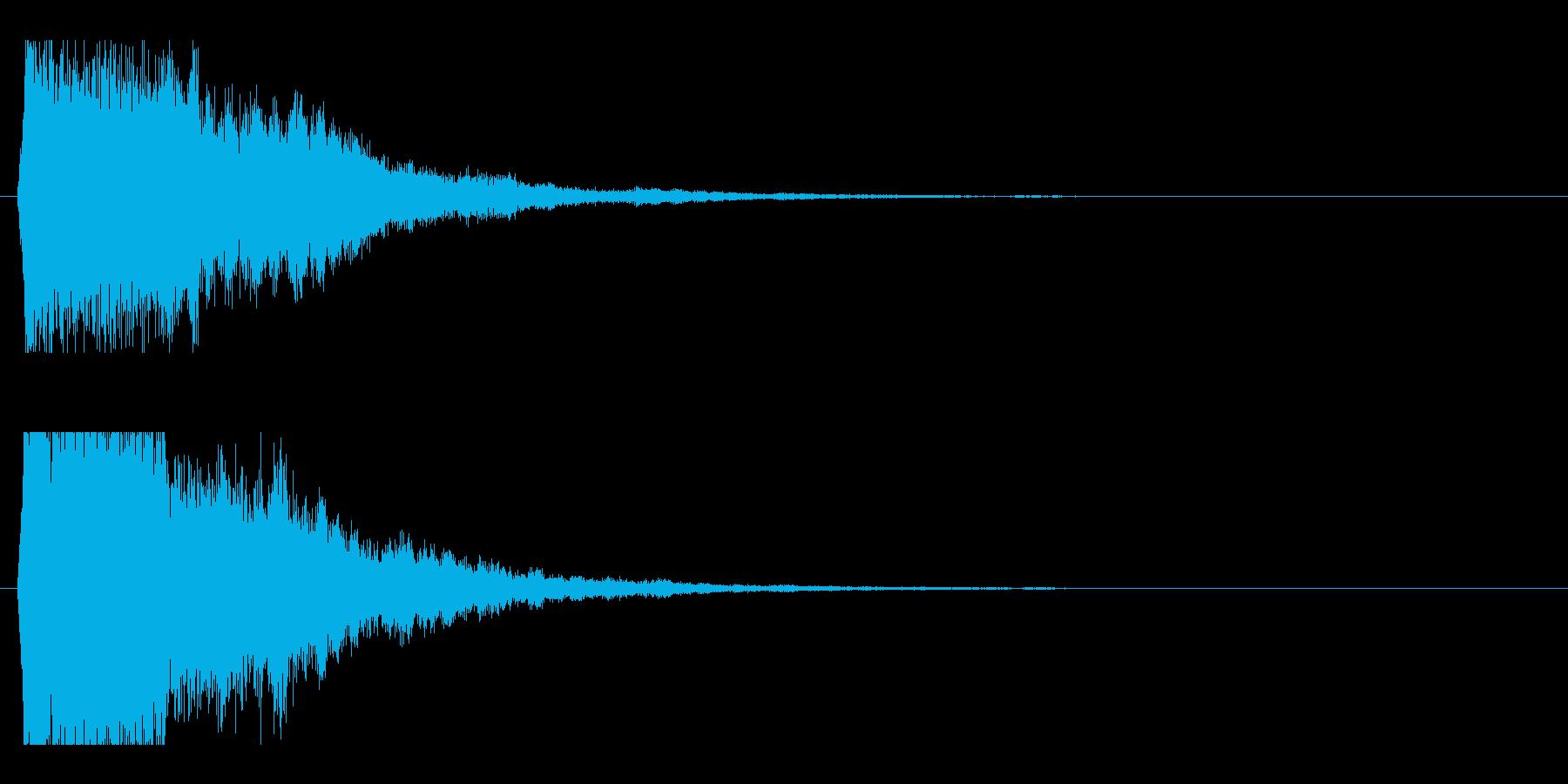 レーザー音-50-2の再生済みの波形