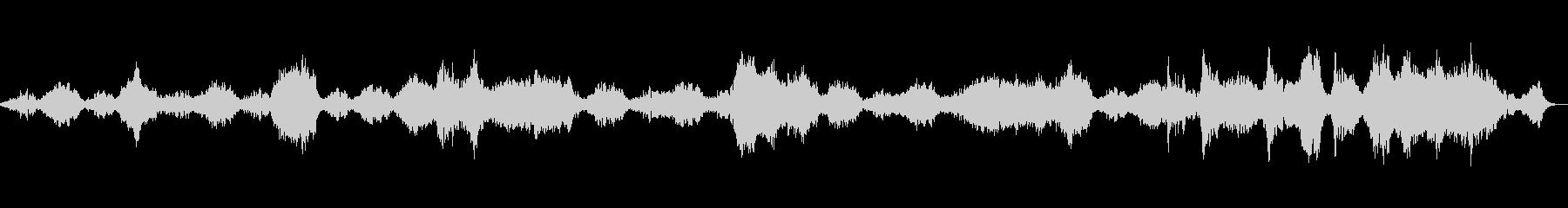 純粋・静かなアンビエントサウンドBGMの未再生の波形