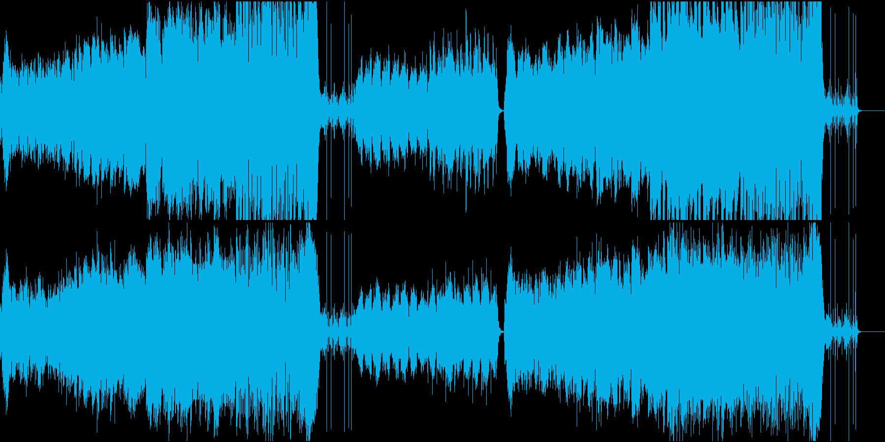 和風の壮大な冒険をイメージした曲の再生済みの波形
