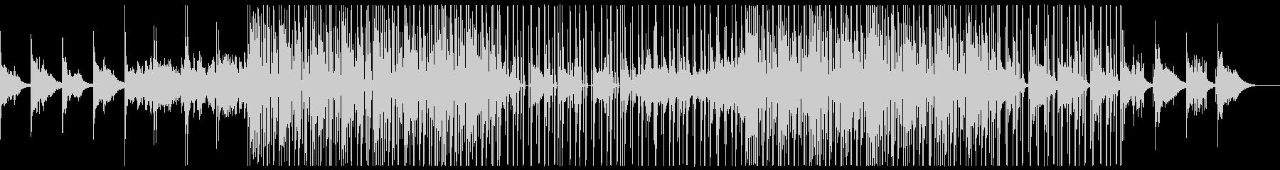 ダークなエレクトロBGMの未再生の波形