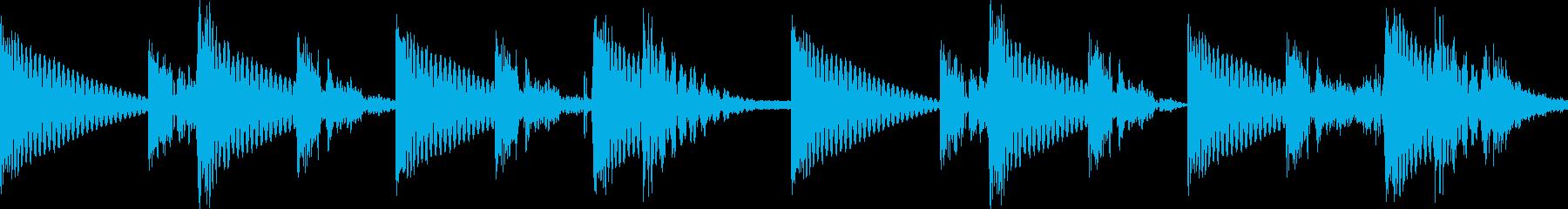 BPM128EDMリズムループの再生済みの波形
