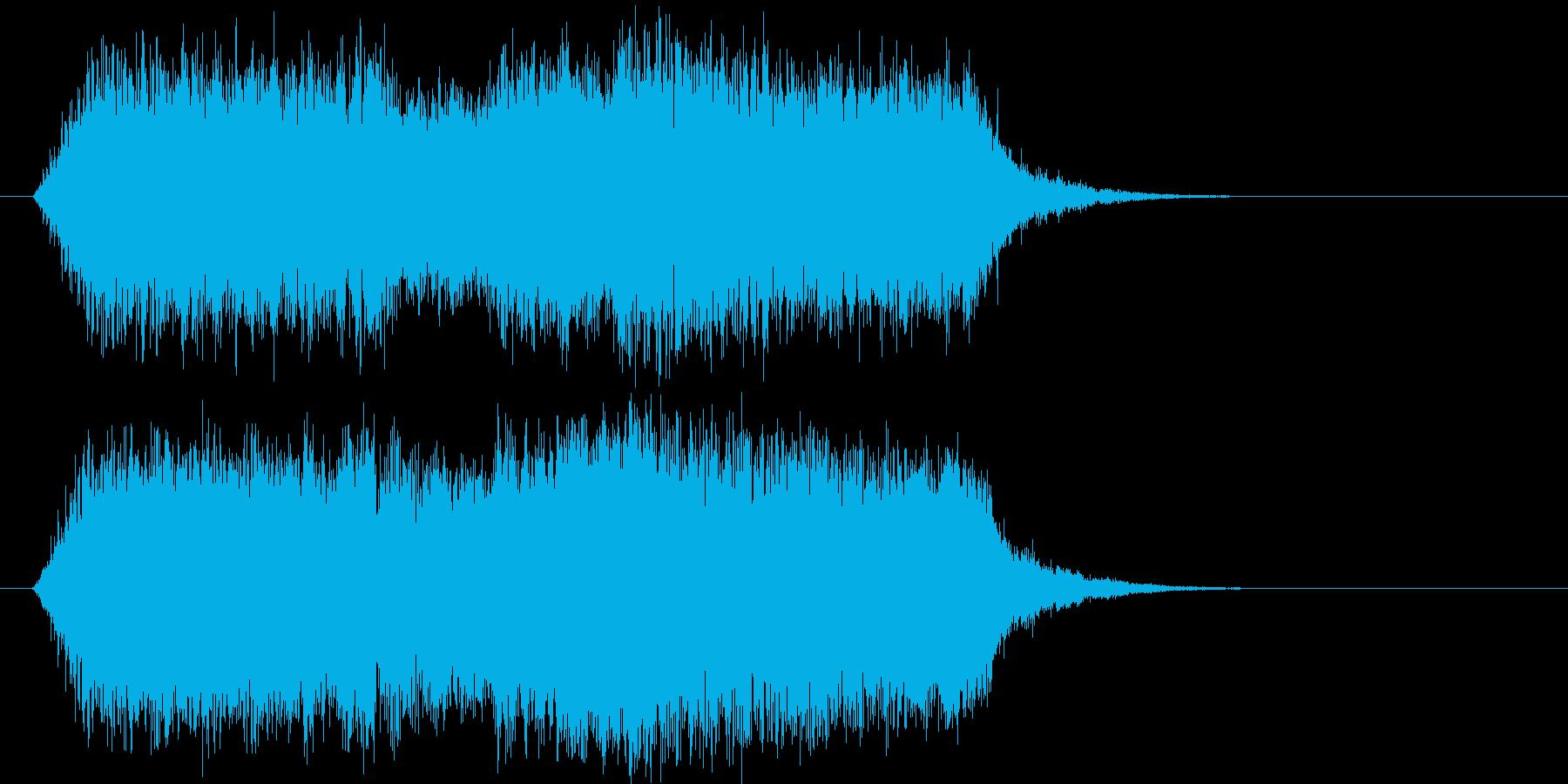 不思議 不気味 不安 エンディングの再生済みの波形