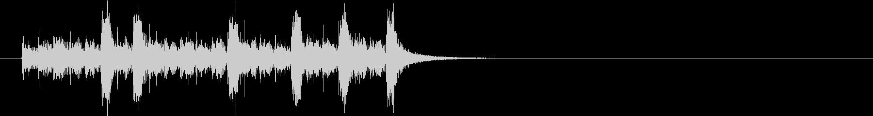 ジングル(SFX風)の未再生の波形