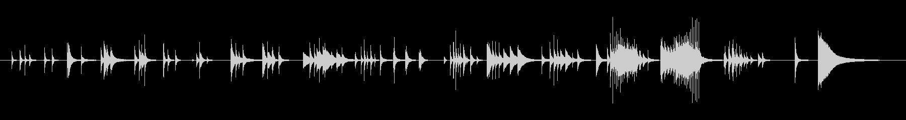 ピアノ中高音域を多用したメロディーの未再生の波形