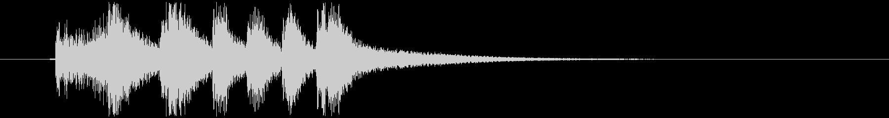 金管と弦楽のファンファーレの未再生の波形