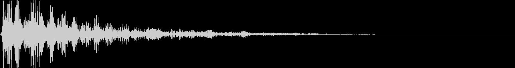 どん:地鳴り・迫力・オープニングホラーcの未再生の波形