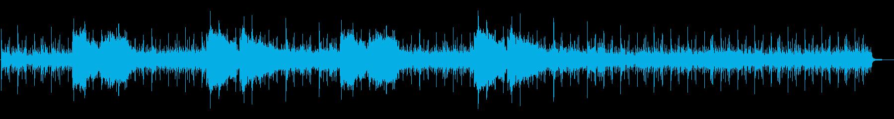 厳かな和風インストの再生済みの波形