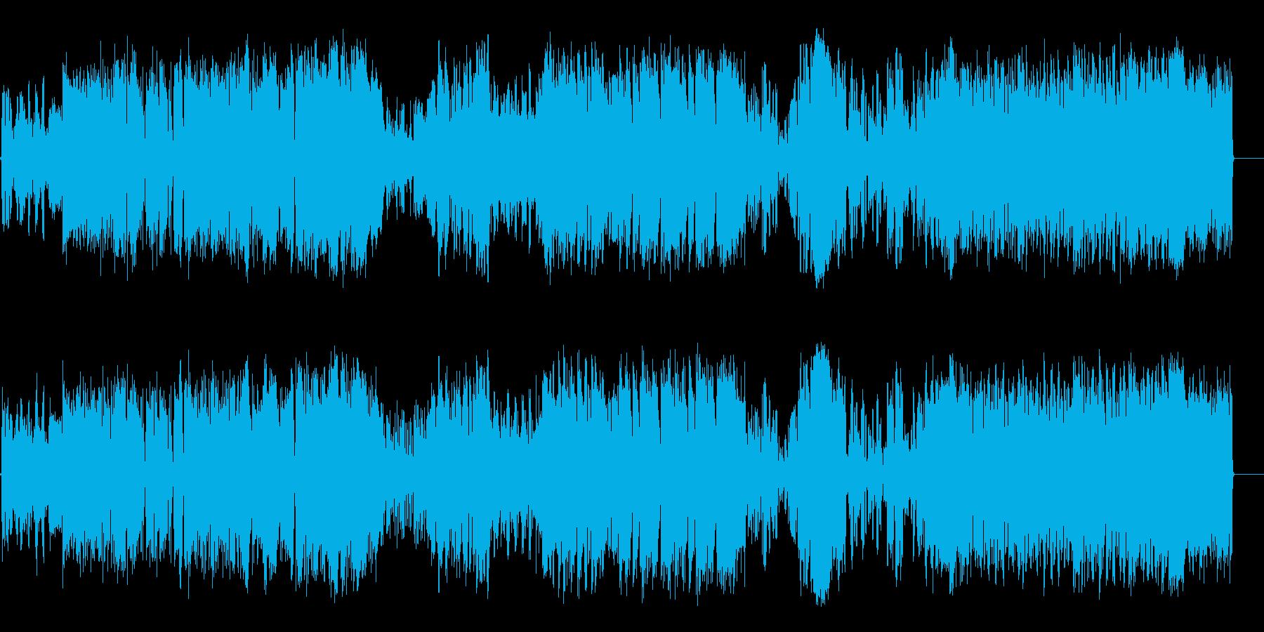 みんなでワイワイ歌っているポップスの再生済みの波形