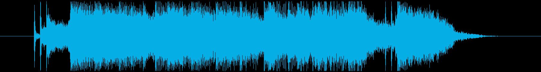 熱いハードロックジングルの再生済みの波形