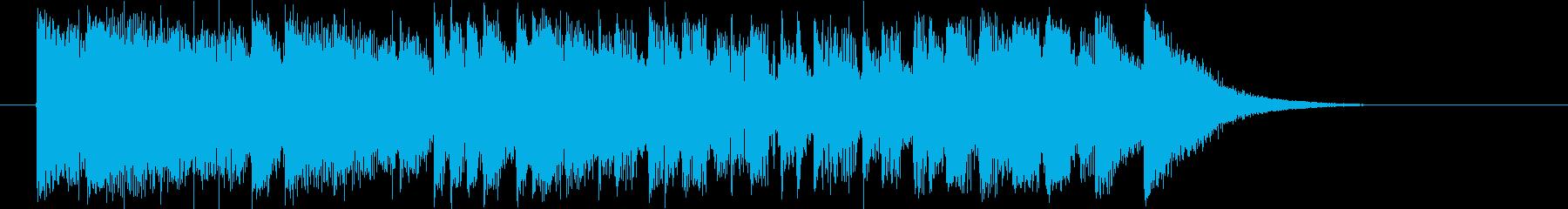 疾走感と勢いのあるシンセポップジングルの再生済みの波形