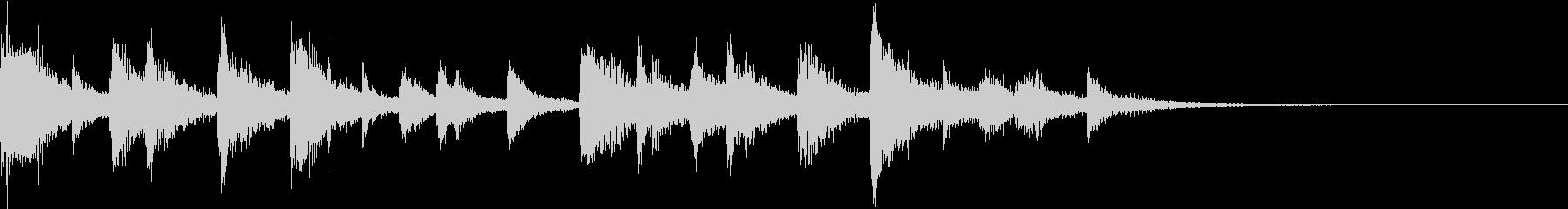 ギターとシンセ 短いサウンドロゴの未再生の波形