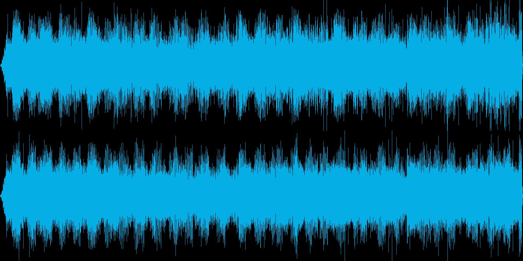 秋の夜、コオロギやスズムシの鳴き声の再生済みの波形