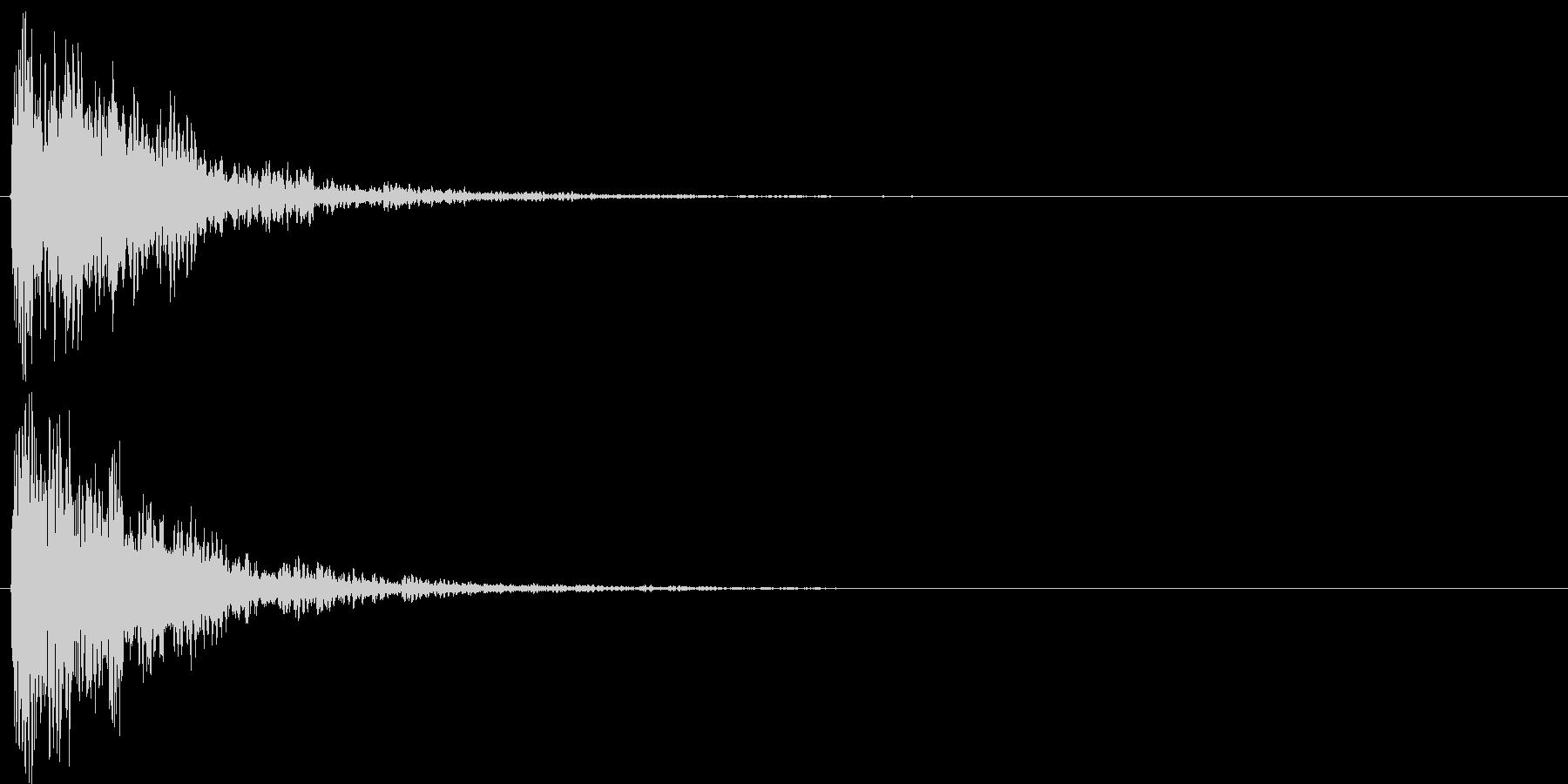 チャリラン(お知らせアラート低音付)の未再生の波形
