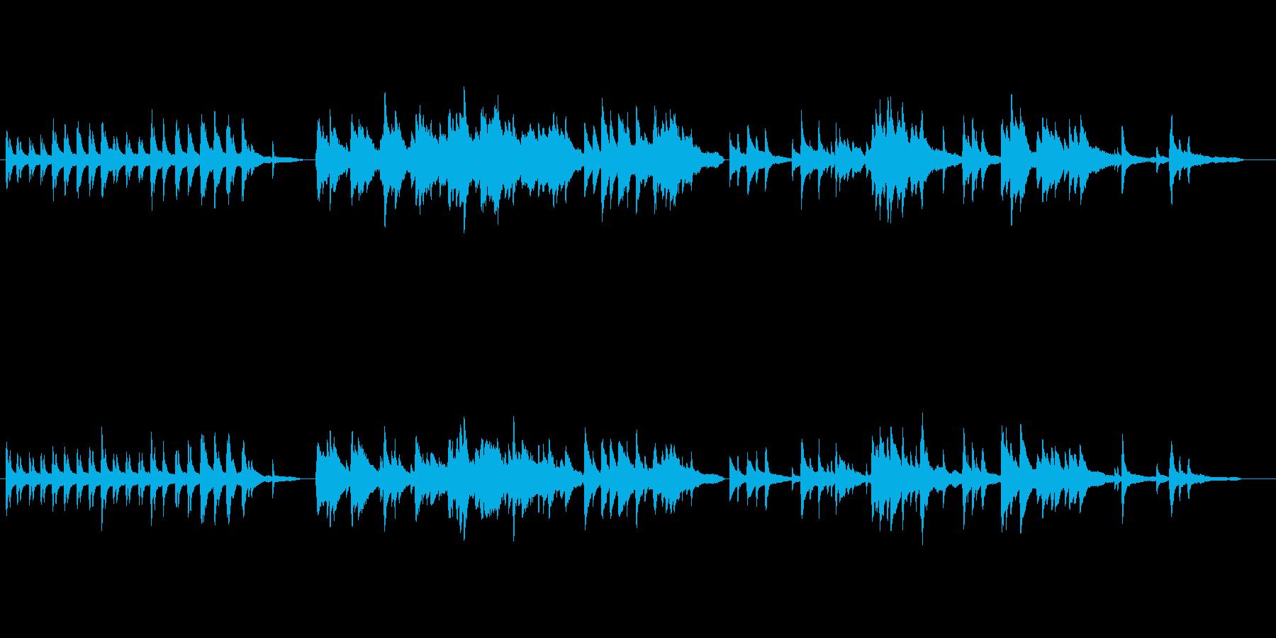 風の音が心地よい癒し ピアノ曲の再生済みの波形