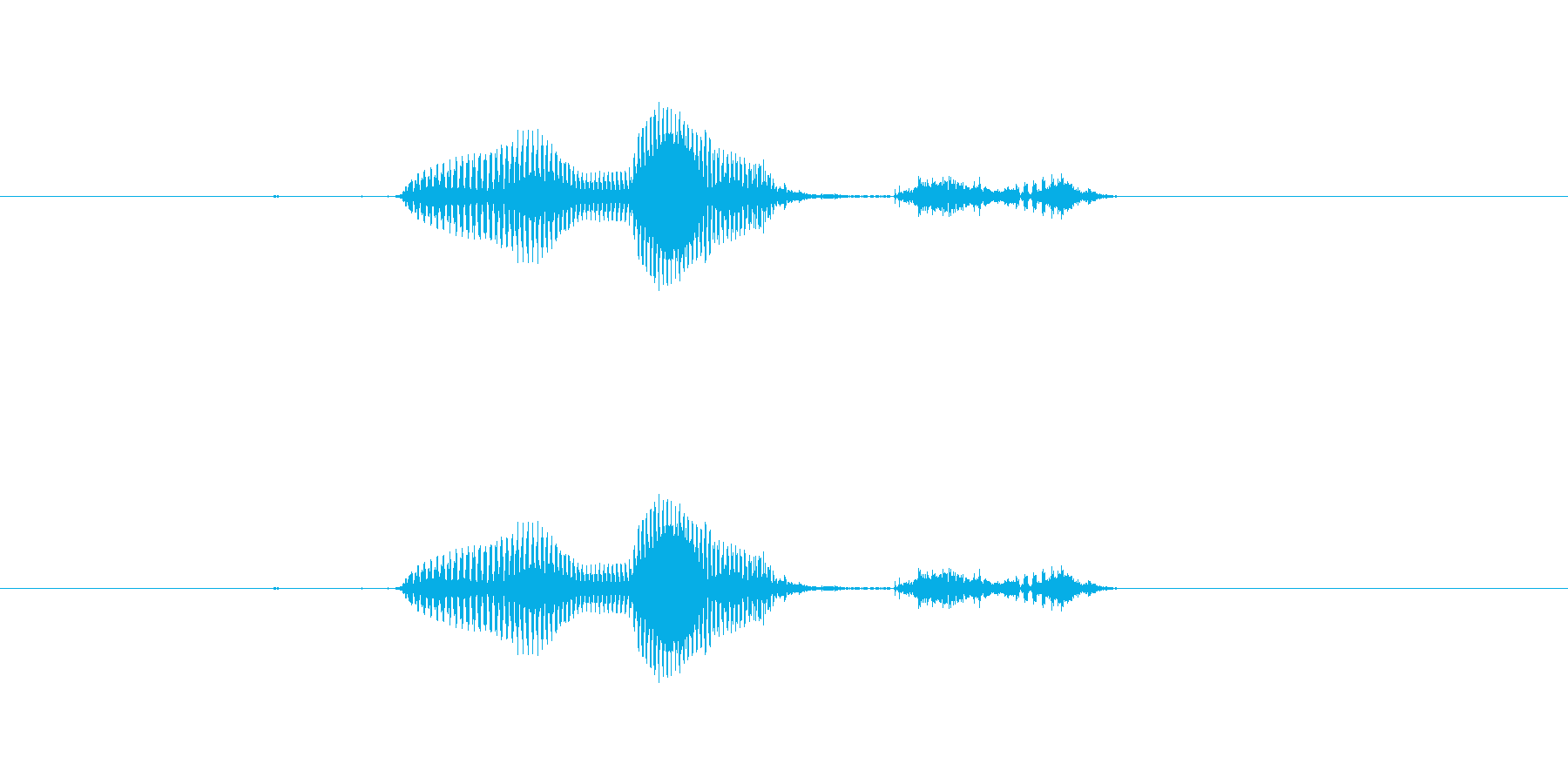 【月】2月の再生済みの波形