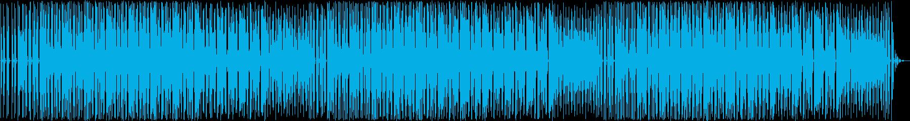 デジタルな要素の強いテクノポップの再生済みの波形