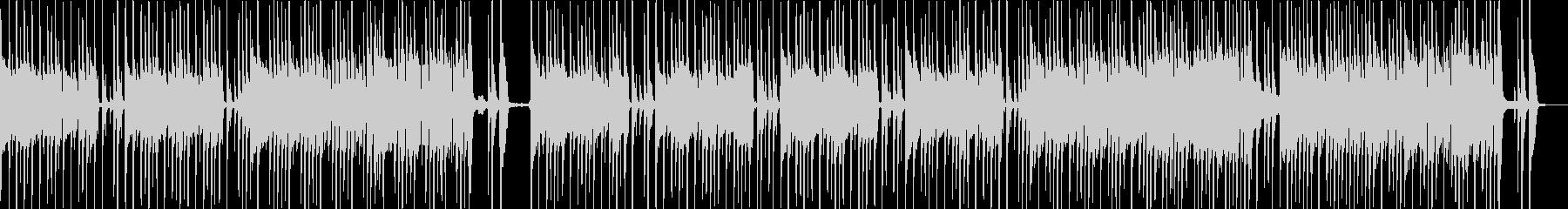 ドラムとベースのシンプルなロックサウンドの未再生の波形