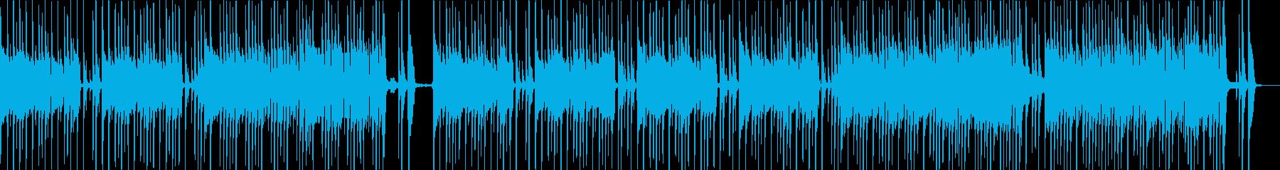 ドラムとベースのシンプルなロックサウンドの再生済みの波形