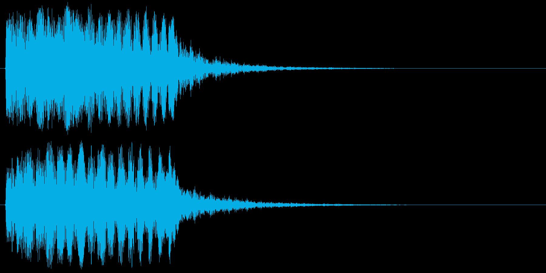 上昇系の効果音です。『ドタラララララン』の再生済みの波形