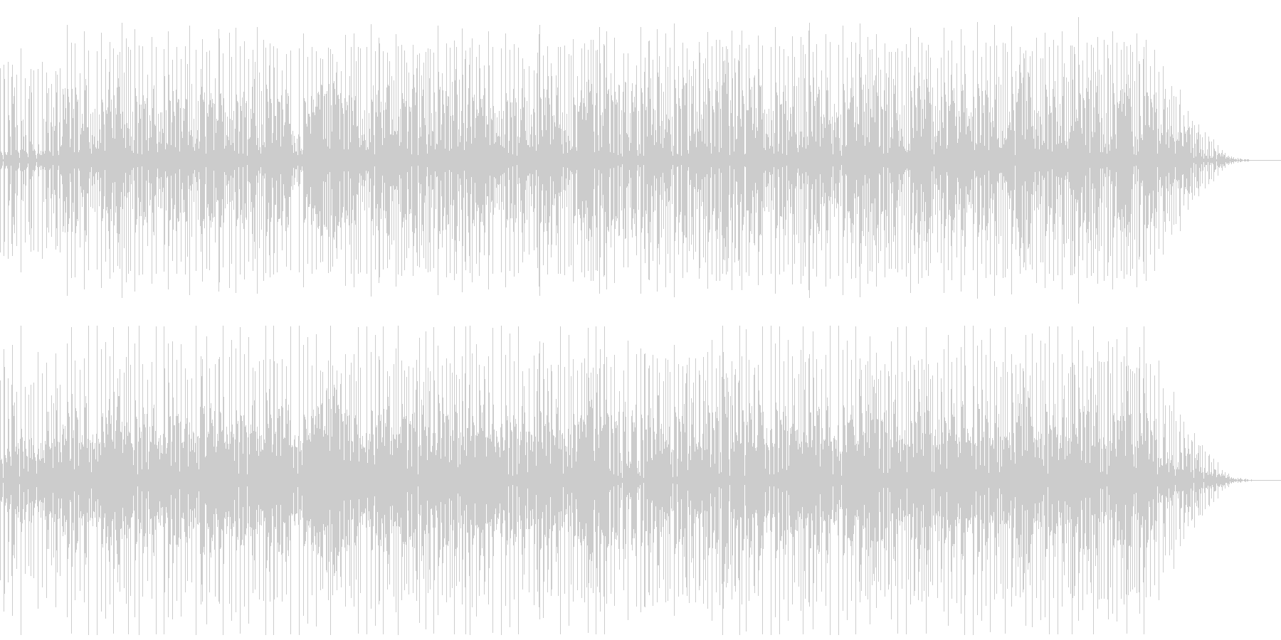 古臭くコミカルさのあるファンクの未再生の波形
