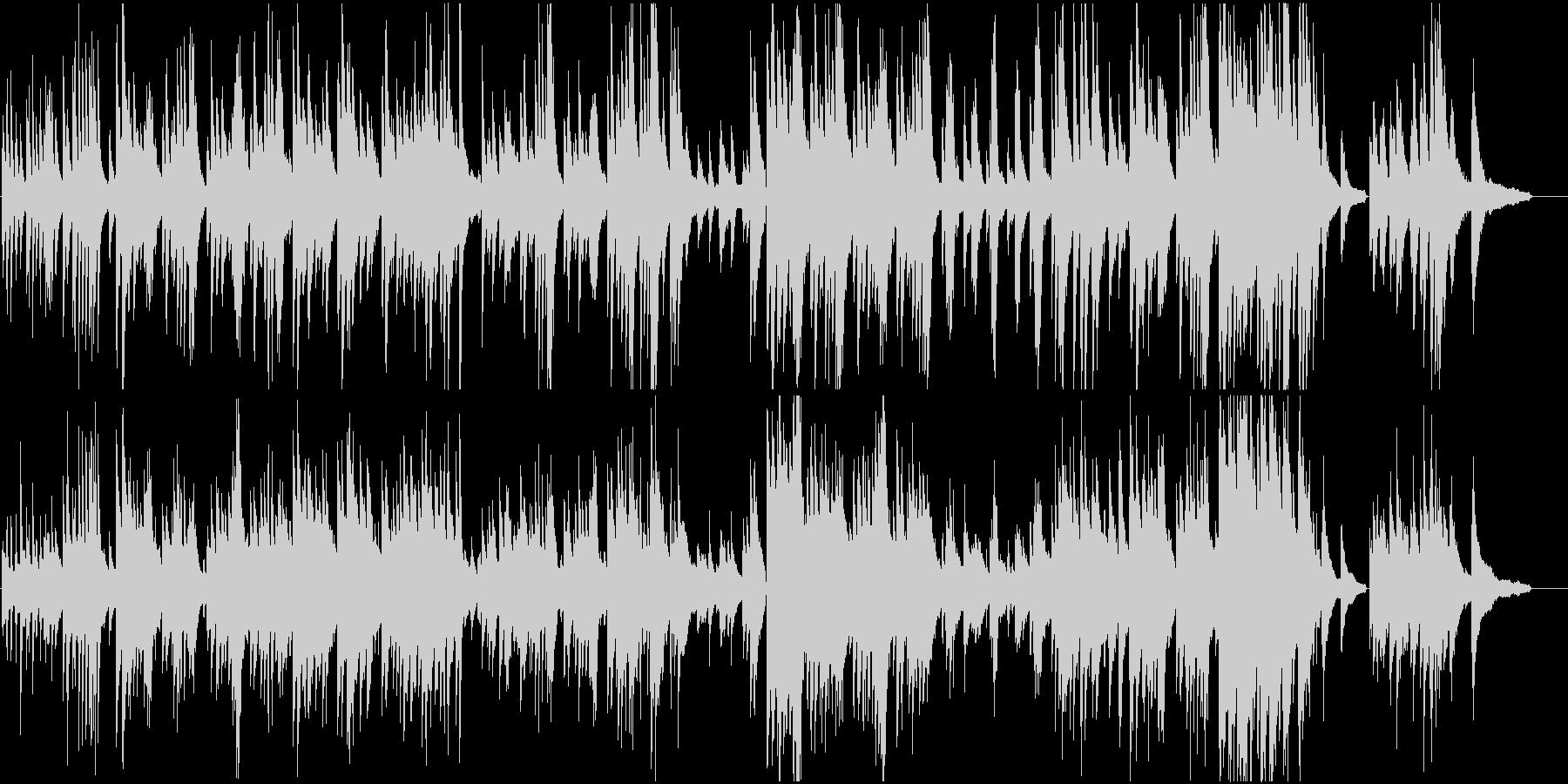 明るく軽快なピアノ曲の未再生の波形