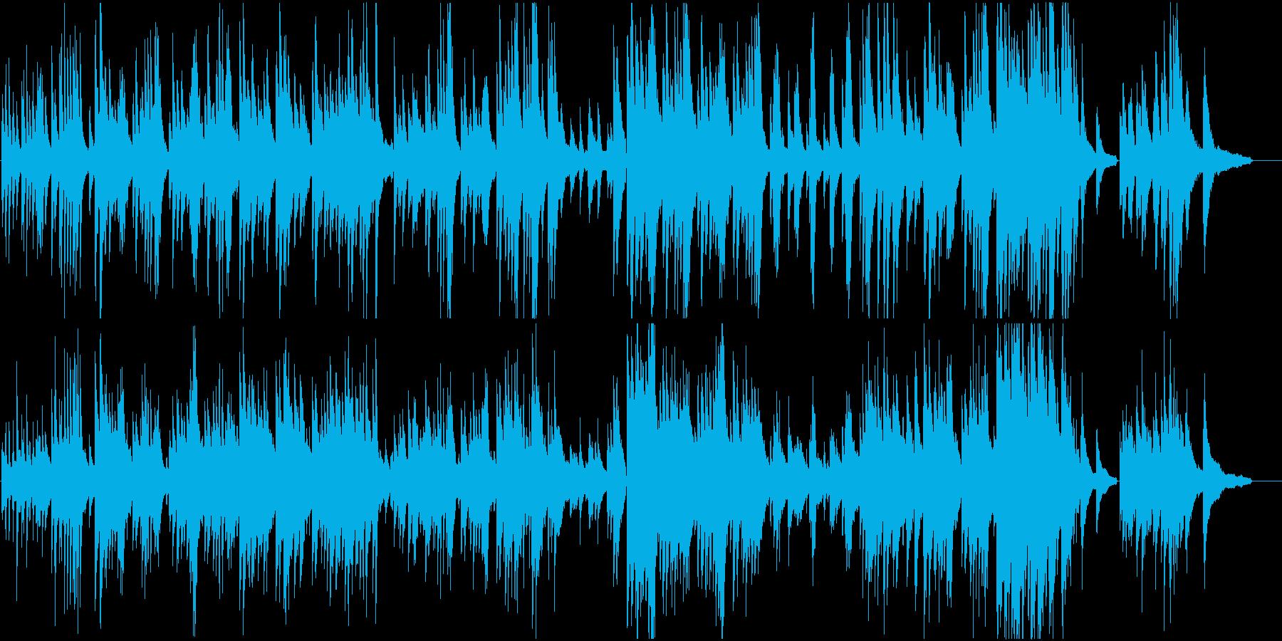 明るく軽快なピアノ曲の再生済みの波形