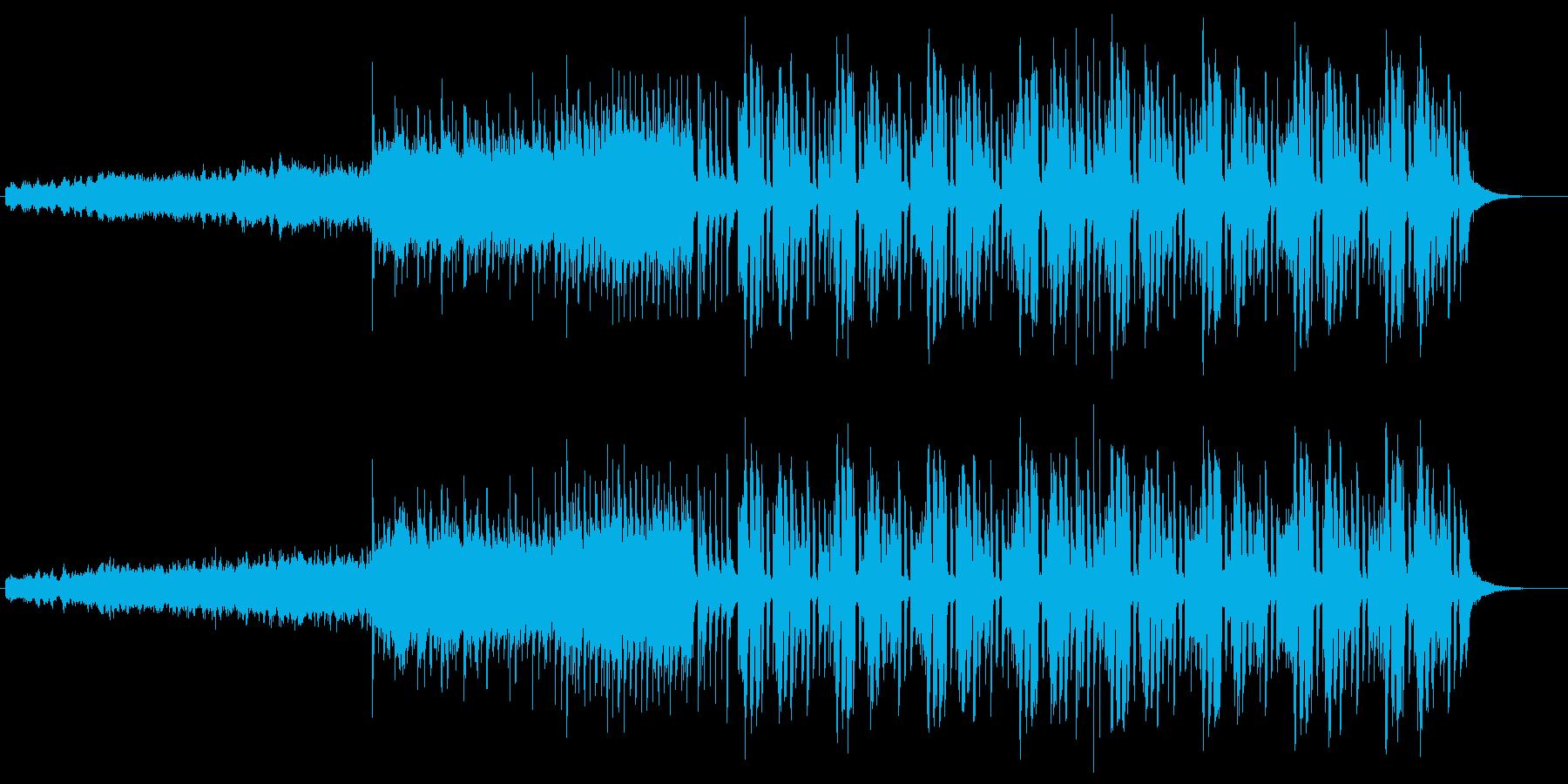 バウンド感のある変則ビートの再生済みの波形